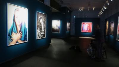 Näkymä Ikoner-näyttelystä