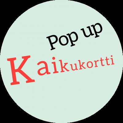 Kaikukortti-pop up -logo