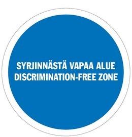 Syrjinnästä vapaa alue -logo.