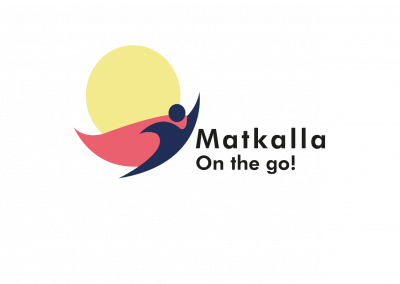 Matkalla - On the go! -project's logo.