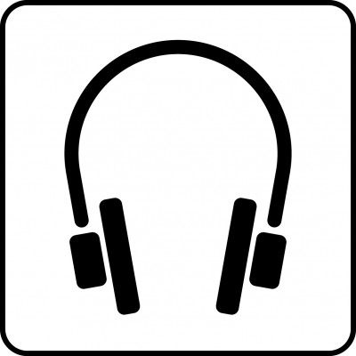 Symbol of audio guide.