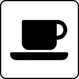 Symbol f�r cafe (Helsinki f�r alla).