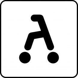 Symbol för rollator.