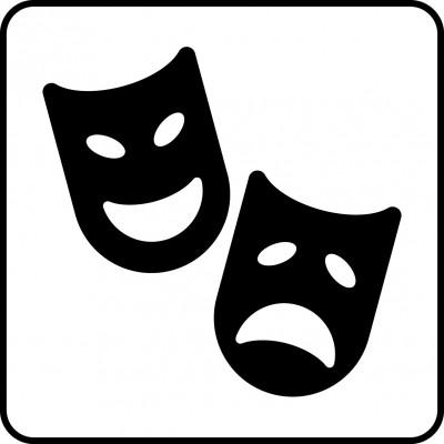 Symbol för teater.