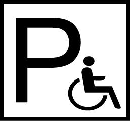 Symbol för tillgänglig parkering.